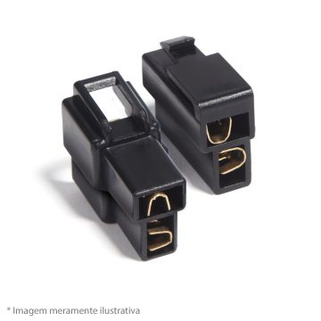 KIT CONECTOR COM TRAVA - 2 VIAS